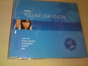 MARLY-YOU-NEVER-KNOW-5-MIX-HOUSE-CD-SINGLE-AATW