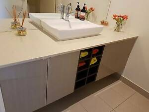 Wall hung vanity with basin and mixer tap Melbourne CBD Melbourne City Preview