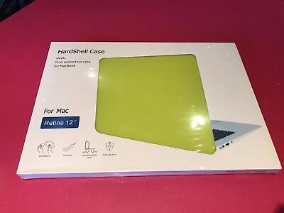 Brand New Lime Green Hardshell Case For Mac Retina 12""