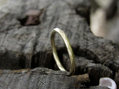 14k yellow gold Unisex wedding ring.Full round ring,handmade unique ring