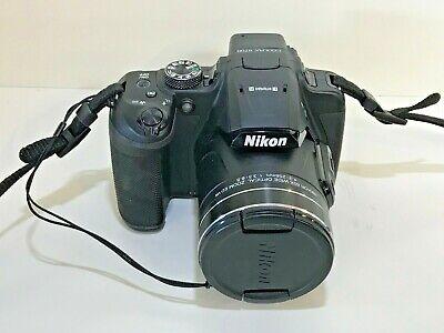 Nikon COOLPIX B700 20.2 MP 4k Digital Camera - Black with strap