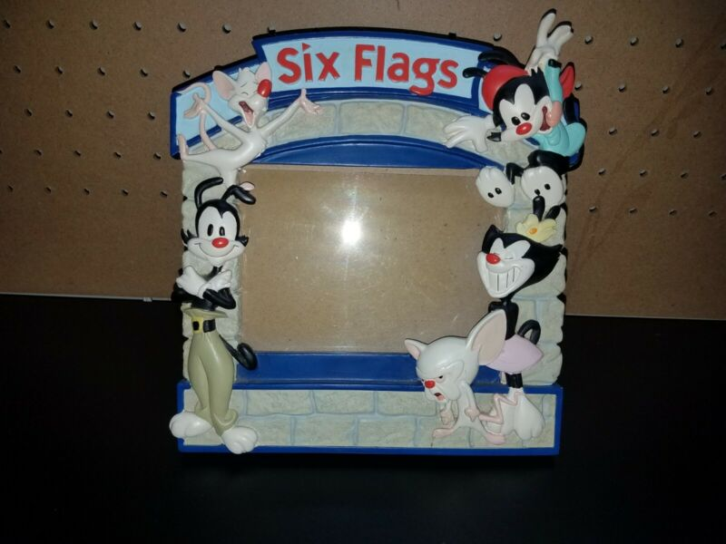 Very Rare Six Flags Animaniacs Photo Frame Pinky and the Brain