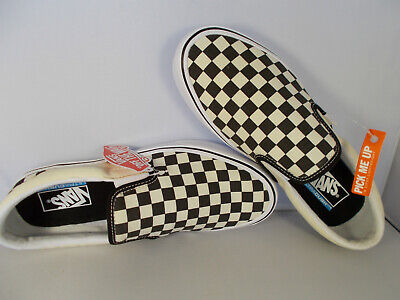 VANS Slip-On Lite Black/White Checkerboard UltraCush Shoes Men's Size 11 NIB
