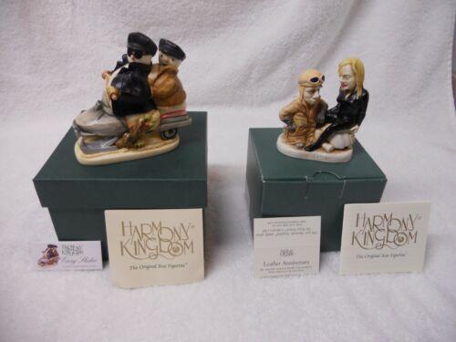 """Lot of (2) Harmony Kingdom Figurines """"Easy Slider"""" + """"Leather Anniversary"""" NIB"""