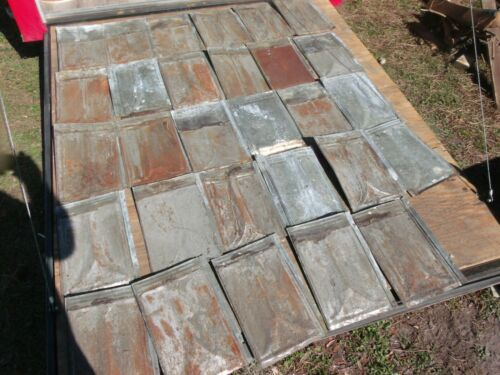 Vintage Tin Ceiling Tiles- 1800;s, Architectural rescue/reclaim{29 tiles,25sq ft