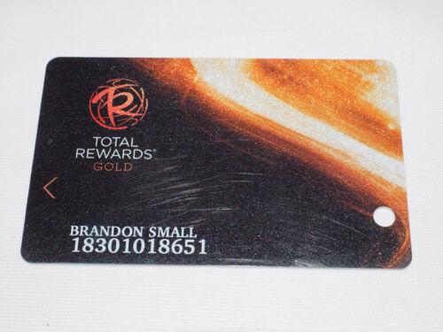 TOTAL REWARDS (CeasarsResorts) Las Vegas Casino Players Club Card Brandon Small