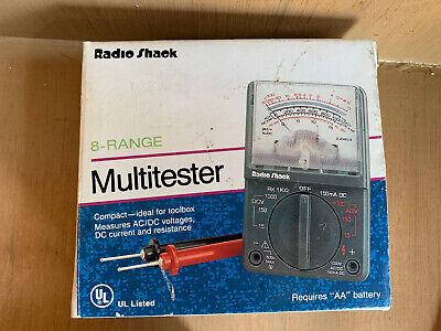 Vintage Radio Shack Micronta 8 Range Multitester 22-218 2000 Ohms Volt