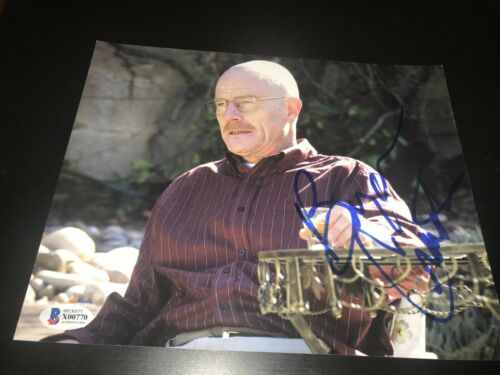 BRYAN CRANSTON SIGNED AUTOGRAPH 8x10 PHOTO BREAKING BAD PAUL BECKETT BAS AUTO D