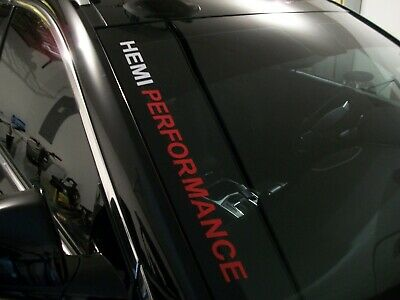 HEMI PERFORMANCE  Windshield Decal Dodge Charger Challenger R/T RAM 1500 2500