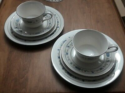 2 Sets Of Noritake 7016 Norma Without Plate, Excellent