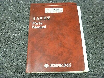 Sumitomo Model Sc800 Hydraulic Crawler Crane Parts Catalog Manual Book