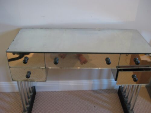 Mirror Desk/Vanity Table - Art Deco?   PICK UP ONLY