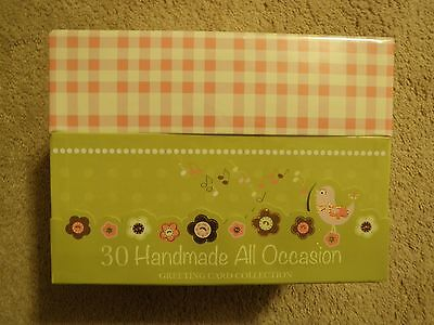 New in Wrap 30 Handmade All Occasion Greeting Cards with Decorative Keepsake Box