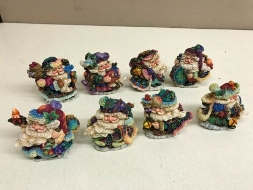 LOT of 8 Crinkle Claus Bavarian British West Coast Appalachian Mediterranean etc