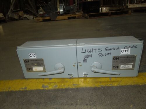 Ge Thfp362 60a Twin 3ph 600v Fused Panelboard Switch W/ Hardware Used