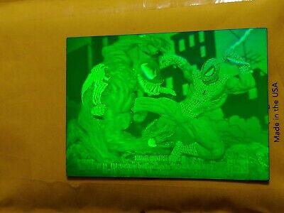1993 Marvel Universe H-IV Spiderman vs Venom 3D Hologram card NEVER Packed MINT!
