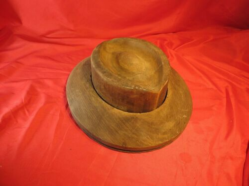 ANTIQUE HAT BLOCK FORM ~ MILLINERY INDUSTRIAL MOLD ~ WOOD FORM                 3