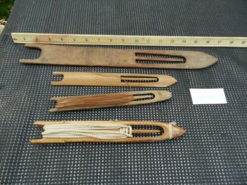 Lot of Vintage Fishing Net Needles Wood  4 For One $