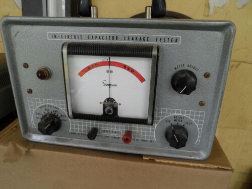Vintage Simpson 383 Capacitor Analyzer Leakage Tester