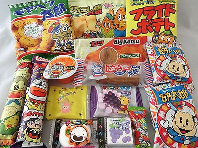 Japanese Food 15pcs Dagashi Okashi Candy Gum Snack Selection Set Free shipping
