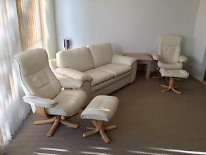 Leather Lounge Set North Narrabeen Pittwater Area Preview