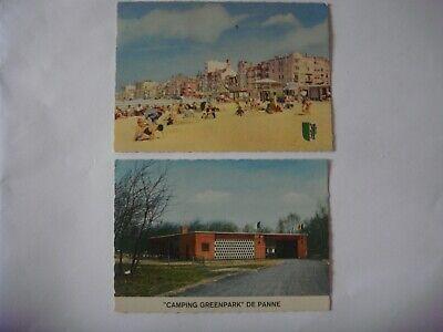 Lot de 2 cartes de DE PANNE - LA PANNE - Strand en dijk / Camping Greenpark