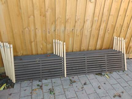 8 x 2400 fence toppers. $25 the lot.