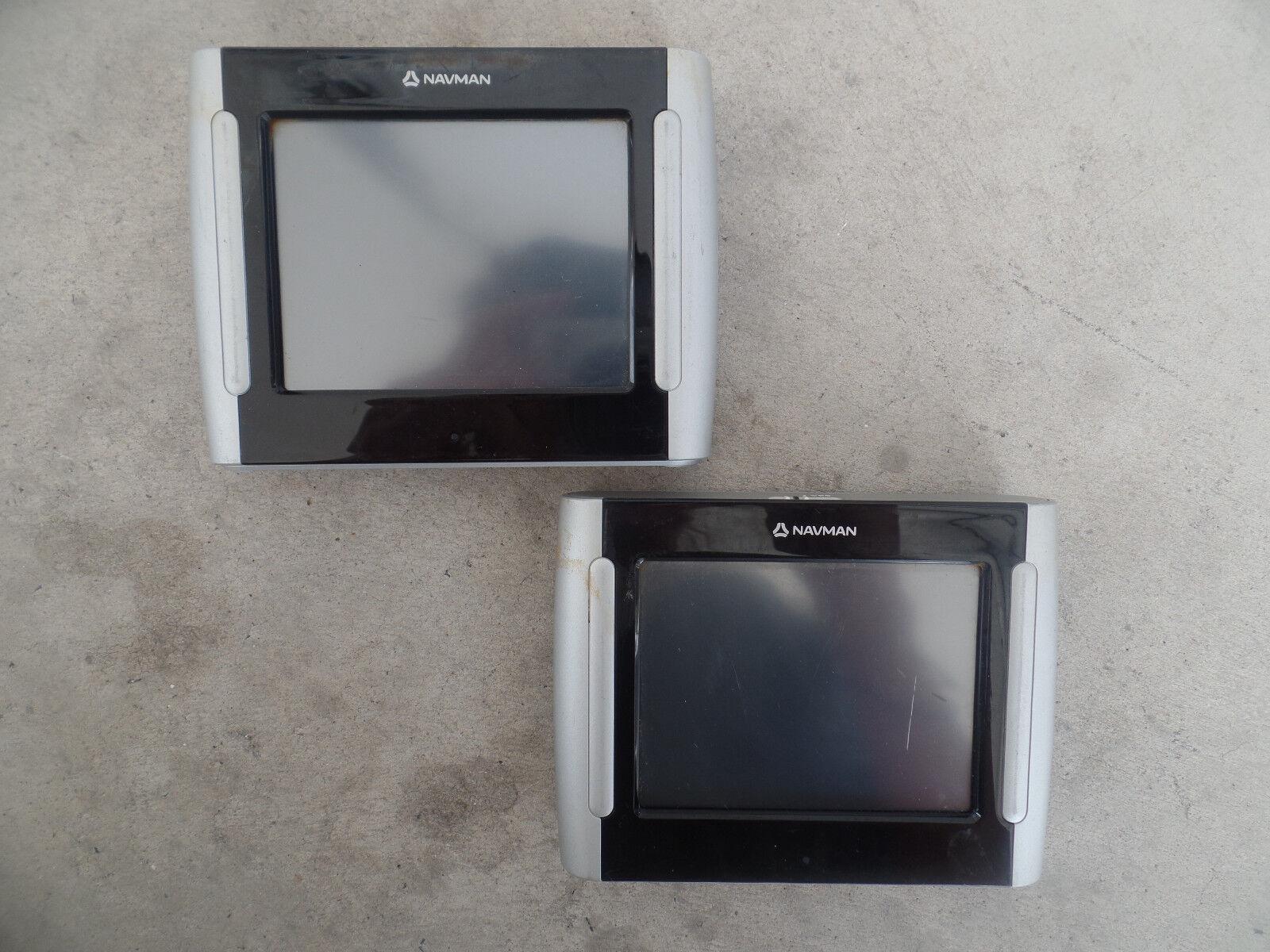 2 x USED Faulty NAVMAN N196 GPS Automotive GPS - NO POWER