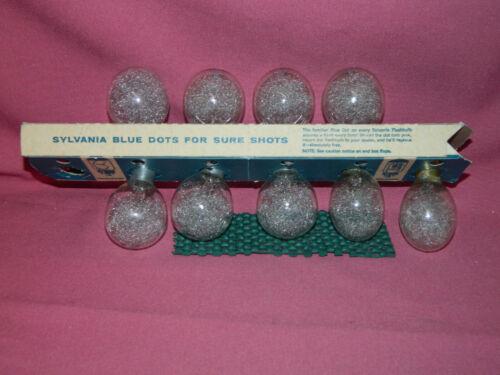 Vintage SYLVANIA BLUE DOT FLASH BULBS (x 9) Unused - See Pictures