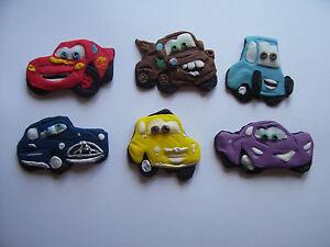 CARS set of 6 edible cake cupcake decorations