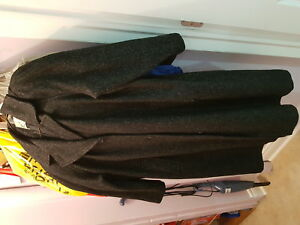Vintage black wool coat