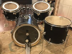 """4 pc  matte black PDP shell pack mint cond 22"""" 10"""" 12"""" 14"""""""