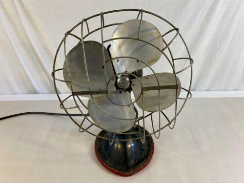 Vintage Hunter Century Type C-12 3-Speed Oscillating Metal Fan - Cat No. 235