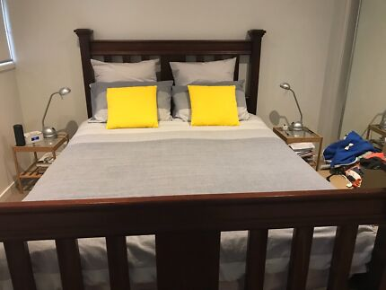 Wooden Queen Bed Base $100