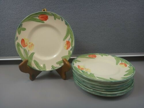 8 Piece Franciscan TULIP Bread Plates