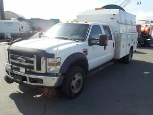 2009 Ford F-550 SD Crew Cab Hi-Rail with Service Box Dually 4WD