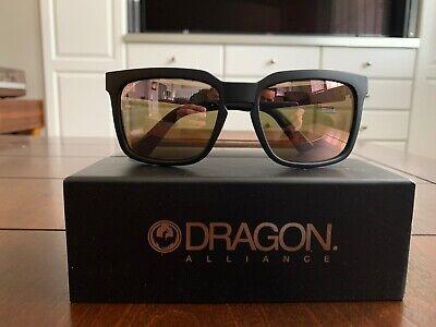 NEW Dragon Mr Blonde  Mens Square Sunglasses  Matte Black / Rose Gold (Mens Rose Gold Sunglasses)
