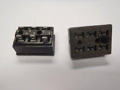 Cinch Jones Socket Female S-406-lab Panel Mount Bracket 6 Pin Connector Fs