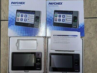 Paychex Px3500 Biometric Fingerprint Time Clock No Power Cord