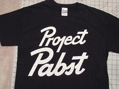 PROJECT PABST Bartender T-SHIRT Mens MED Music Festival Portland Oregon PBR PDX