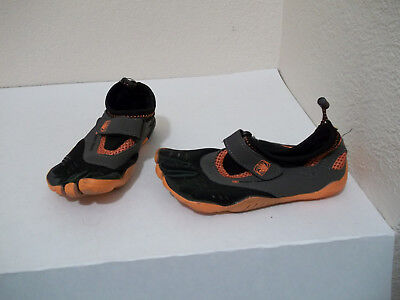 GIRLS BODY GLOVE BAREFOOT MAX GRAY BLACK ORANGE WATER SHOES TODDLER SZ 13 MISSES