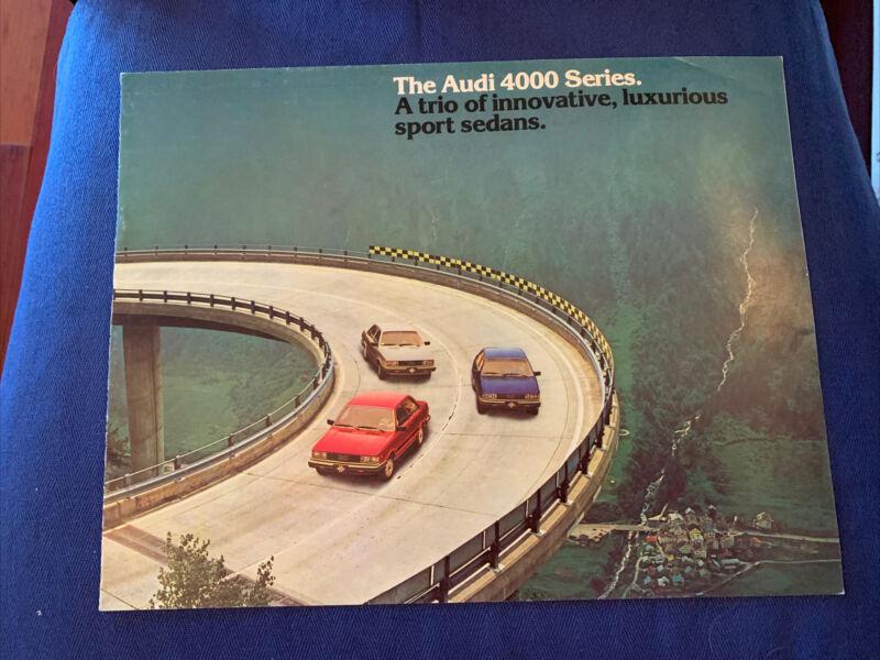 The Audi 4000 Series Brochure Original Excellent 1981 Specifications Brochure