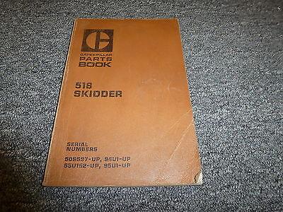 Caterpillar Cat 518 Grapple Cable Skidder Parts Catalog Manual Book