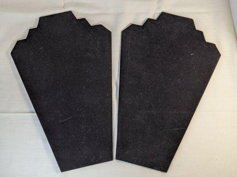 Set Of Two Black Velvet Necklace Display Stands