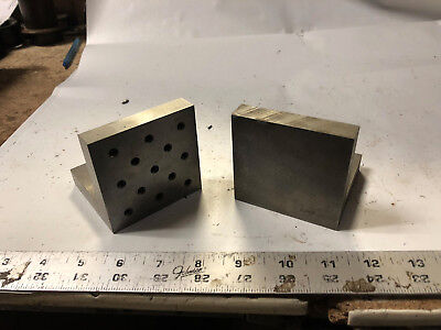 Machinist Lathe Tool Mill 2 Set Up Angle Blocks Fixtures Plates Drw