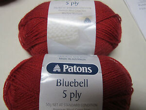 PATONS CLASSIC BLUEBELL,WOOL,4 BALLS DARK RED,NO 4319