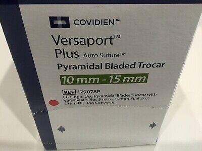 Covidien Versaport Plus 10mm-15mm Ref 179078p Exp 2021-05 3pcs