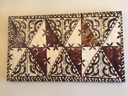 Polynesian-style painted tapestry