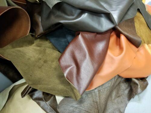 1 lb Bulk Scrap Leather Trimmings, Cowhide Remnants, Premium Leather