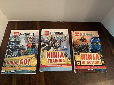 Ninjago Masters Of Spinjitzu Lego Books Set Of 3 Ninja Go, Ninja Training
